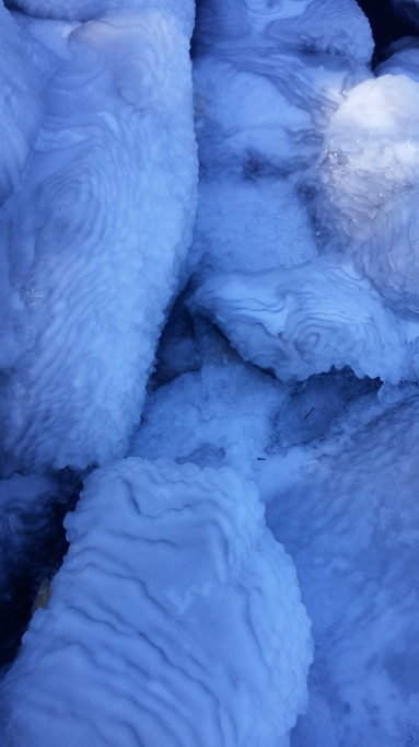 Lake Superior ice rocks